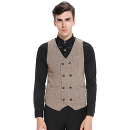 $enCountryForm.capitalKeyWord Australia - 2019 New British Style Suit Vest Men Jacket Sleeveless Vintage Formal Business Gilet Solid Waistcoat For Gentleman Dropshipping