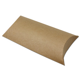 $enCountryForm.capitalKeyWord NZ - 20pcs Brown Kraft Paper Pillow Box Gift Packaging Candy handkerchief Socks Silk Scarf Underwear Packing Wedding Party Storage free shipping