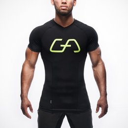 $enCountryForm.capitalKeyWord Australia - Mens Tshirt Tight Compression Suit Male Sports Stretch Short Sleeved V-neck Body Shaping Breathable Running Quick-drying Clothes T-shirt