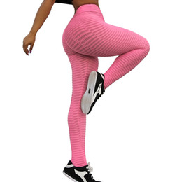 women dance sports UK - Sport Leggings High Waist Women Pants Fitness Jacquard Yoga Tights Running Gym Dancing Scrunch Buttock Mallas Mujer Deportivas #730905