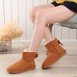 Hot leatHer lady boots online shopping - Hot sales designer Women Snow Boots Australia Style Waterproof Cow Suede Leather Winter Lady Outdoor Boots Brand Ivg Size US3