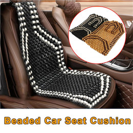 auto seat cooler 2019 - Universial Summer Cool Wood Wooden Bead Seat Cover Massage Cushion Chair Cover Car Auto Office Home 2 colors discount au