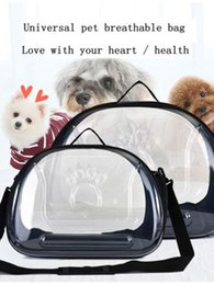 pet travels NZ - Foldable PVC Pet Carrier Puppy Dog Cat Transparent Outdoor Travel Shoulder Bag