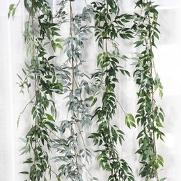 fake vine plants NZ - Artificial Ivy Green Leaf Garland Plants Vine Fake Foliage Flowers Home Garden Leaves Decor Fake Rattan String Grass Cactus