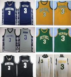 basketball jersey xxl Australia - Georgetown Hoyas Allen Iverson College Basketball Jersey University #3 Allen Iverson Shirts Cheap Retro Stitched Jerseys S-XXL