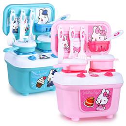 $enCountryForm.capitalKeyWord NZ - Cute children's play house pink blue simulation kitchen boy girl cooking utensils kitchen fun plastic toys