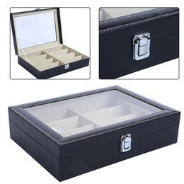 $enCountryForm.capitalKeyWord Australia - Watch Storage Box Holder PU Leather 8 Grids Jewelry Collection Watch Display Box Sunglasses Glasses Organizer Home Storage