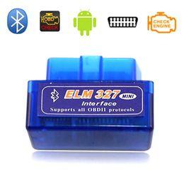 99a5750ad1e SUPER mini elm 327 bluetooth V2.1 elm327 obd ii считыватель кодов  Диагностический инструмент для автомобиля Сканер Elm-327 OBDII Адаптер