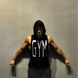 Black Shirt Loose Skull Australia - Sell well gym Hoodies Top Skulls Print Sleeveless Tank Tops Summer Vest Casual Male Loose Pockets Singlet Shirts 3XL Undershirt