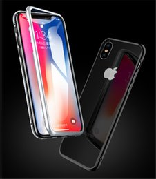 $enCountryForm.capitalKeyWord Australia - HOT SALE Magnetic Adsorption Tempered Glass Back Panel Phone Cover Phone Case For iPhone XR XS MAX iPhone X 8 7 6 car