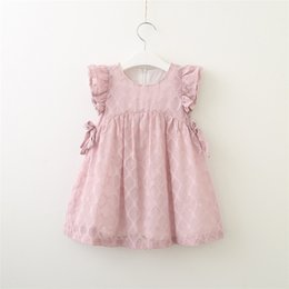 Brand Factory Clothes Australia - Summer new 2019 chiffon flying sleeve dress in the children cute sweet princess dress factory direct children's clothing