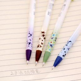 $enCountryForm.capitalKeyWord Australia - Pressable Pencil 0.5mm Mechanical Pencil Automatic Korean Japanese Flowers School Supplies Kids Gift Students Stationery