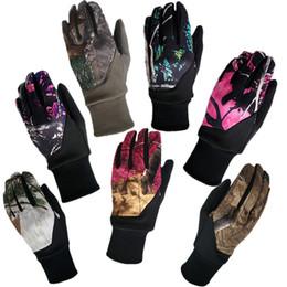 Großhandel Camouflage Touchscreenhandschuhe Blätter Tarnpalme Rutschfeste Berührungshandschuh Winter Radfahren Motorrad Full Finger Handschuhe GGA2542