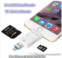 $enCountryForm.capitalKeyWord Australia - 3 in 1 i-Flash Drive Multi-Card OTG Reader Micro SD & TF Memory USB Card Reader Adapter for iPhone 8 7 6 Andriod PC