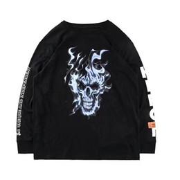$enCountryForm.capitalKeyWord Australia - 2019 Hot Brand Heron Preston T Shirts Summer Style Hip Hop Oversize Long Sleeves Heron Preston T-shirt Streetwear Black Flame