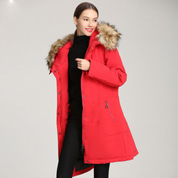 lady long winter parka NZ - 2020 Winter Warm Fur Women Down Jackets Coat Thickened Parka Stitching Ladies Long Down Garments Outdoor Outfits