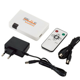 Rca Remotes online shopping - Universal HDMI To RF Coaxial Converter Box Adapter Cable with Remote Control Power Supply for TV Converting