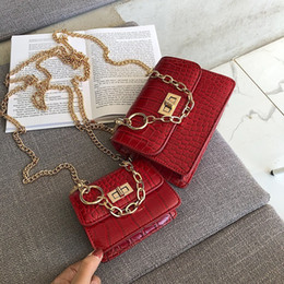 wholesale designer handbags Canada - 2019 Fashion Metal Lock Mini Small Square Pack Shoulder Bag Crossbody Package Clutch Women Designer Wallet Handbags Bolsos Mujer