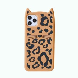 cat ears iphone cases UK - Cute Cartoon Animal Cat ears Leopard Print Phone Case For iPhone 11Pro Max 7 8 6 6S Puls X XS Max XR Cases Retro Soft Silicone Cover