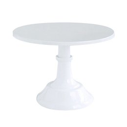 cupcake display stands Canada - Metal Iron Cake Stand Round Pedestal Dessert Holder Cupcake Display Rack Bakeware White Birthday Wedding Party Decoration