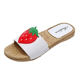 9cf2efb2813b3 Summer Women Flip Flop Non-Slip Flat slipper Home Slippers Soft Soles Home  Bathroom Slippers Beach Flip Flops Straw Shoes  89