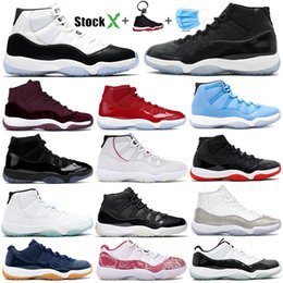 Chinese  Concord 45 11S XI Jumpman Platinum Tint Men Women Basketball Shoes 11 Space Jam Cap and Gown bred Sneakers Trainers 36-47 manufacturers