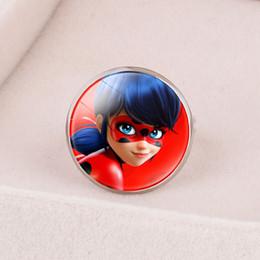 $enCountryForm.capitalKeyWord Australia - Style4 Anime pattern ladybug girl reddy miracle ladybug with super cat ring magic gemstone opening adjustment ring
