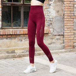 dryer pa 2020 - 2019 Ovesport High Waist Pants Fitness Women's Leggings Workout Hollow Out Elastic Breathable Quick Dry pants Sport