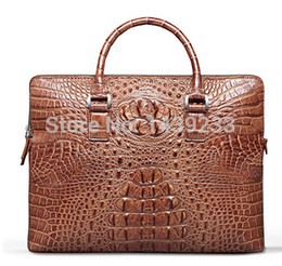 $enCountryForm.capitalKeyWord Australia - Genuine Crocodile leather briefcase alligator skin men laptop