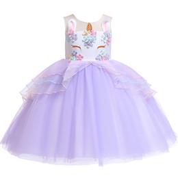 $enCountryForm.capitalKeyWord UK - Halloween Girls Princess Skirt Lace Tutu Unicorn Dress Child Dress Best Selling Ball Grown Wedding Birthday Party Children Wear XF13