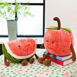 Strawberry pluSh toyS online shopping - Watermelon Cherry Stuffed Toys Strawberry Plush Doll Toy CM Summer Fruit Plush Best Funny Stuffed For Kids
