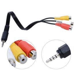 Audio Performance Australia - 1pcs 3.5mm Mini Aux Male Stereo to 3 RCA Female Audio Video AV Adapter Cable for High-Performance Video and Audio Playback