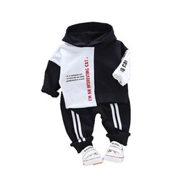 toddler boy 4t Australia - 2019 New Spring Infant Clothing Baby Boys Girl Clothes Suit Kid Sports Hooded Sweater Pants 2pcs Sets Children Toddler Tracksuit