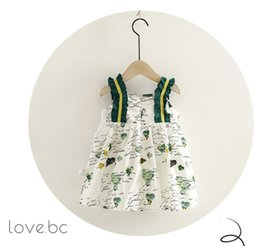 Product Brand Color Australia - 2019 hot new product female treasure children's boutique version star strap vest skirt cute dress