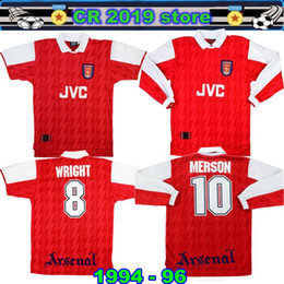 89314e0fc 1994 96 Arsenalal Home Shirt Merson  10 Jersey 1994 95 Arsenalal Home Shirt  Wright  8 Very Good Jersey 1994 95 bergkamp Home Football Jersey