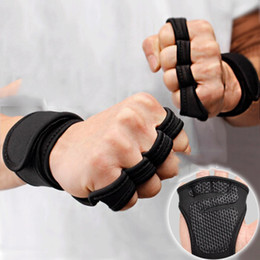 racing hand gloves UK - Weight Lifting Training Gloves Women Men Fitness Sports Body Building Gymnastics Grips Gym Hand Palm Protector Gloves