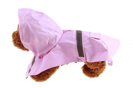white raincoats Canada - 1PCS Pet Rain Poncho Fashion Pet Dog Raincoat For Small Medium Large Dog Rain Jacket Raincoats PU
