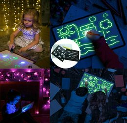 develop board UK - Draw With Lights Fun And Developing Toy Drawing Board Magic Draw Educational Fluorescent Luminous Board Toy
