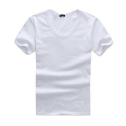 Tight Fitted Tees NZ - Men's V-Neck Short Sleeve T-Shirt Slim Fit Tight Casual Basic Tee Shirts Solid Regular Cotton Comfort Clothing For Men M L XL