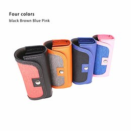 Color Leather Bags Australia - Portable Storage Bag Case IQOS protective cover four generation for cloth woven waterproof Leather 4 color Optional for MYLE JUUL MT PH