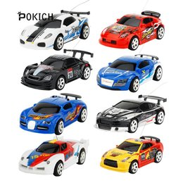 remote control micro racing car UK - Pokich Genuine Coke Can Mini RC Radio 4CH 1:58 Remote Control Machine Highspeed Vehicle Micro Racing Car Toy Gift Multicolor