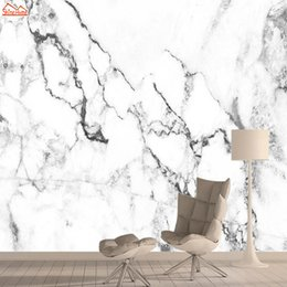 nature print paper Australia - White Marble Wallpapers for Living Room Wall Paper Papers Home Decor 3d Nature Wallpaper Mural Peel and Stick Murals Rolls Art