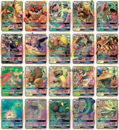 Flash games children online shopping - 20PCS GX Cards High HP Flash Cards New Charizard TagTeam For Children Toy DHL