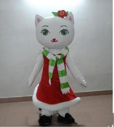 outlet clothes NZ - 2019 Factory Outlets hot White Cat Mascot Costume cartoon Christmas cats Character Clothes Halloween festival Party Fancy Dress