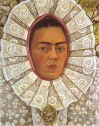 China Frida Kahlo Art Self Portrait,Oil Painting Reproduction High Quality Giclee Print on Canvas Modern Home Art Decor 179 suppliers