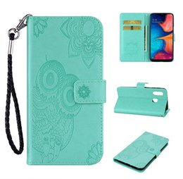 Case samsung owl online shopping - Owl Wallet Leather Case For Samsung Galaxy A20E A60 A80 NOTE10 Pro S10 G Huawei P20 Lite P Smart Z Stand Flip Skin Cover Pouch