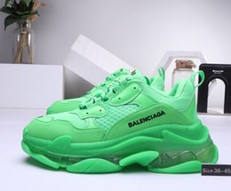 Seat StickS online shopping - Men Women fashion balanciaga Shoes Sneakers Cushion Triple S Combination Nitrogen Outsole Crystal Bottom Dad Casual Shoes Snea36