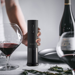 Wholesale 2021 Original Xiaomi Youpin Wine Circle Joy Super Touch Mini Electric Wine Opener USB Charging Black Convenient 3033908C3