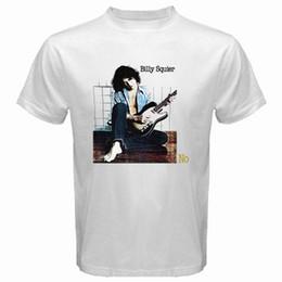 Опт Новый Билли Squier не сказать нет рок Обложка альбома мужская белая футболка размер S-3XL 2018 с коротким рукавом хлопок футболки человек одежда
