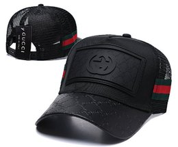 Chinese  2019 Summer G G Italy brand Guc mens design hats Tommy Mesh baseball caps luxe lady fashion hat trucker casquette women causal ball cap 05 manufacturers